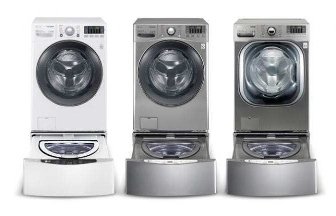 드럼 세탁기와 통돌이 세탁기가 결합된 LG전자 트롬 트윈워시 - LG전자 제공
